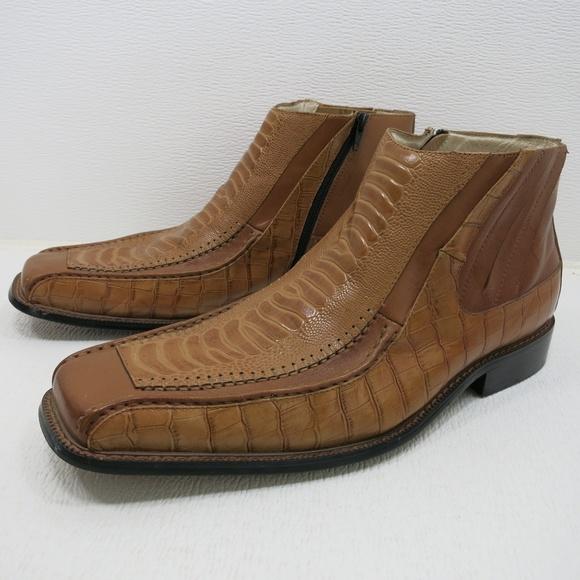 f1df3aadcefd3 Stacy Adams Crocodile Print Leather Dress Boots 13.  M 5b8d96bf3e0caa23b7f5de75